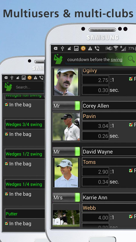 Mobile Golf Tempo Trial