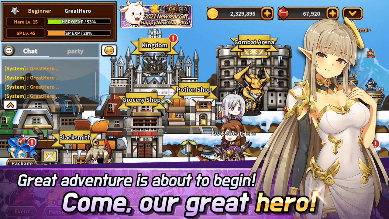 Hero Town online : 2D MMORPG